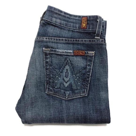 7 For All Mankind Denim - 7FAM Swarovski Crystal A Pocket Flare Jean 19-0446